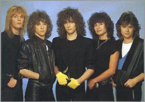 Helloise, de hardrockband uit de jaren 80 met o.a. zanger gitarist Ben Blue. Live muziek voor een feestje? Ben's Bookings.