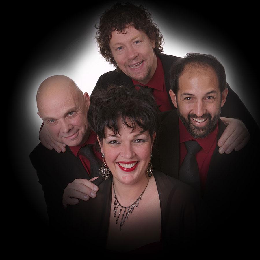 Jazz combo Madame Jeanette & the Peppers. Achtergrondmuziek voor huwelijk, restaurant of receptie